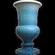 """Roseville Pottery Rozane Pattern Vase #5-8"""", Blue, Circa 1941"""