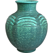 Rookwood Pottery Production Vase #6445, Teal Mat, 1936