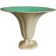 "Cowan Pottery ""Morning Glory"" Vase Ca. 1927, Green/Ivory"