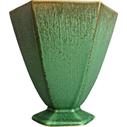 "Cowan Pottery Vase #V-898-A, ""Antique Green"" Glaze, Circa 1929"