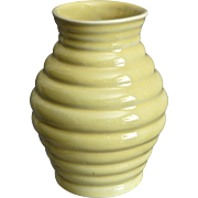 "Cowan Pottery 5"" Modernist Vase, Daffodil Yellow, Ca. 1927"