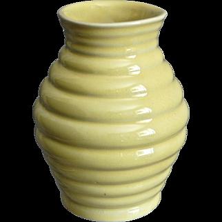 "Cowan Pottery 5"" Modernist Vase, Daffodil Yellow, Ca. 1927"