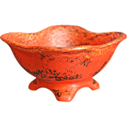 Cowan Pottery Comport, Oriental Red, Circa 1930