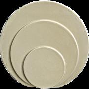 "Trenton Potteries Company 9"" Circlet Vase, Ivory, Circa 1942"