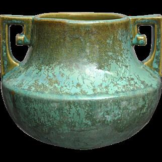 Fulper Pottery Vase #452, Green Crystalline Glaze, Circa 1925