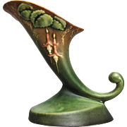 "Roseville Pottery Fuchsia Cornucopia #129-6"", Green, c. 1938"