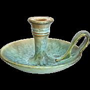 "Rare Roseville Pottery Earlam Chamber Stick #1080-4"", Circa 1930"