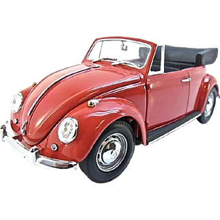 Franklin Mint 1967 Volkswagen Beetle Cabriolet, 1:24 Scale, w/Box & COA