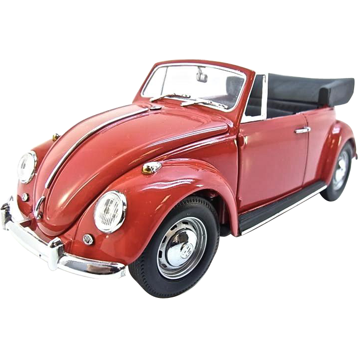 1967 Vw Beetle Show Car For Sale Oldbug Com: Franklin Mint 1967 Volkswagen Beetle Cabriolet, 1:24 Scale