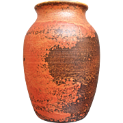 Large Cowan Pottery Vase #V-15, Oriental Red, Circa 1930