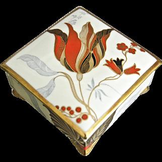 Rosenthal Art Deco Hand Painted Trinket Box, 1935