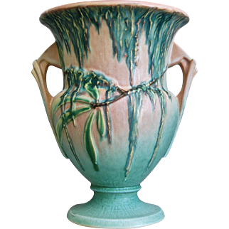 "Roseville Pottery Moss Vase #779-8"", Pink, Circa 1936"