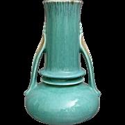 """Roseville Pottery Orian Vase #735-7"""", Blue, C. 1935"""