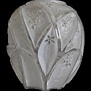 """Consolidated Martele' """"700 Line"""" 10"""" Vase, White Wash, c 1930"""