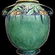 """Roseville Pottery Baneda Vase #595-8"""", Green, c 1932"""