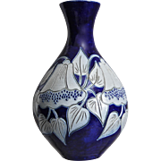 "Fortune' Schmitter French Salt-Glazed 8"" Vase"