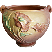 "Roseville Pottery Poppy Jardiniere #642-5"", Pink, c. 1938"