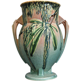 "Roseville Pottery Moss Vase #776-7"", Pink, Ca. 1936"