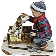 "Norman Rockwell Four Seasons Porcelain Figurine, ""Winter"""