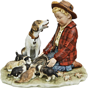"Norman Rockwell Four Seasons Porcelain Figurine, ""Fall"""