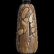 "Weller Pottery 7"" Burntwood Bud Vase, c 1910"