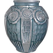 Hunebelle Art Deco Glass Vase, c. 1930