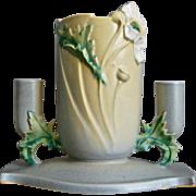 """Roseville Pottery Poppy Centerpiece #341-7"""", c. 1938"""