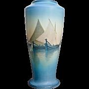 """Rookwood Pottery Scenic Venetian Vellum 9"""" Vase, Schmidt, 1925"""