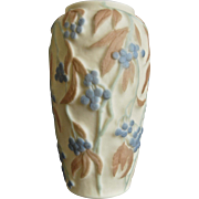 Consolidated Martele' Bittersweet Vase, Tri-Color, c. 1930