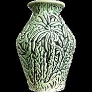 "Weller Pottery Marvo 7"" Vase, Green, c. 1925"