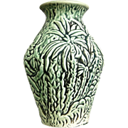 "Weller Pottery Marvo 7"" Vase, Green, c. 1925"