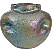 Austrian Heliosine Ware Cabinet Vase, c. 1900