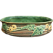 "Roseville Pottery Luffa Bowl #258-12"", Brown, c. 1934"