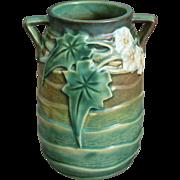 "Roseville Pottery Luffa Vase #684-6"", Green, c. 1934"