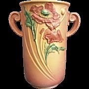 "Roseville Pottery Poppy Vase #877-12"", Pink, c. 1938"
