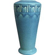 "Rookwood Pottery 8"" Incised Mat Vase, Blue, 1916"