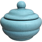 Rookwood Pottery Production Lidded Box #6286, Blue Mat, 1945