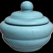 Rookwood Pottery Production Lidded Box #6286, Blue Mat, 1945