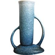 """Roseville Pottery Rozane Pattern Vase #7-9"""", Blue, c. 1941"""