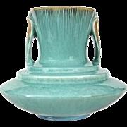 """Roseville Pottery Orian Vase #737-7"""", Blue, c. 1935"""