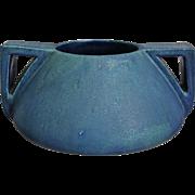 Prairie Style Pottery Vase, Blue Matt, c. 1920