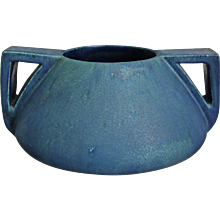 Prairie Style Pottery Vase, Blue Matt, c. 1920 - Red Tag Sale Item