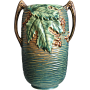 "Roseville Pottery Bushberry Vase #31-7"", Green, c. 1941"