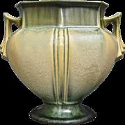 """Roseville Pottery Russco Vase #108-7"""", Green, c. 1934"""