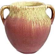 Weller Pottery Fruitone Vase, Rose, c 1920
