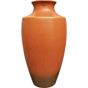 "Roseville Pottery Rosecraft Vase #227-12"", Burnt Orange, c. 1925"