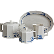 Rookwood Pottery 4 pc. Shipware Tea Set, Ca. 1925