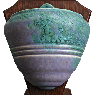 """Roseville Pottery Imperial II Wall Pocket #1263-6"""", c. 1930"""