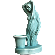 Rare Weller Pottery Hobart Figural Candlestick, c. 1925