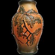 "P. Ipsens Enke 12"" Vase w/Acorns, c. 1950"